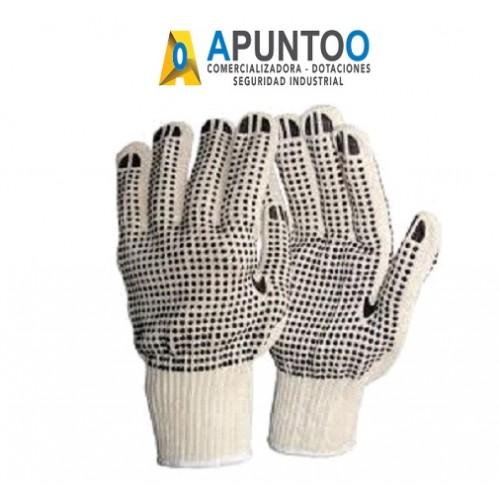 Guante hilaza con puntos de PVC Blanco