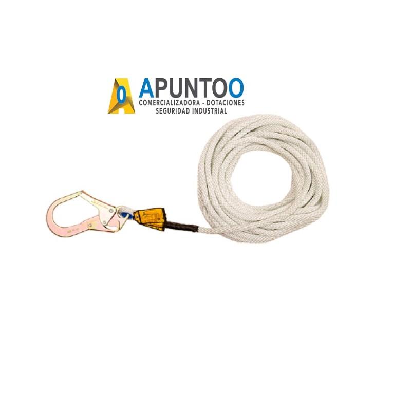 Linea De Vida Vertical Cuerda 13 MM Gancho 2 1/4 L.25M